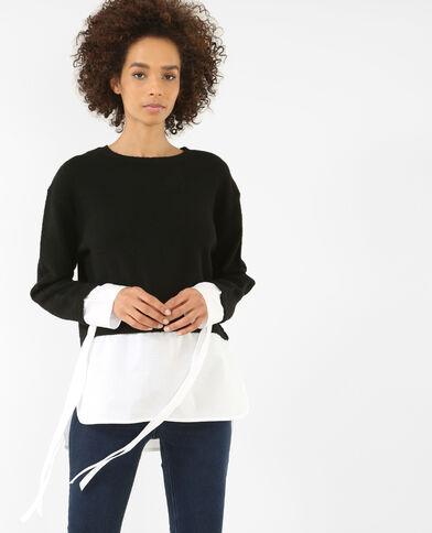 Hemd-Pullover Schwarz