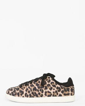Deportivas de leopardo marrón