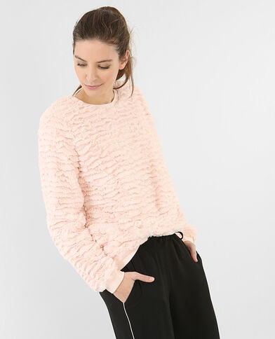 Sweat duveteux rose
