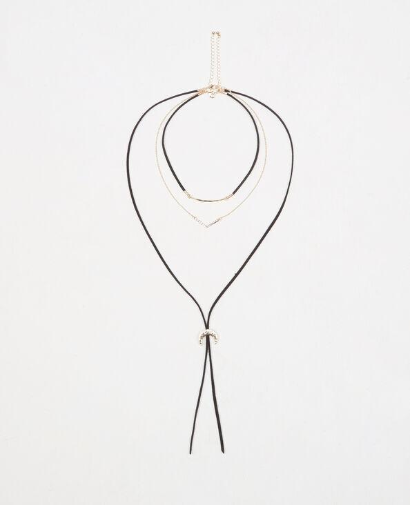 Mehrreihige Choker-Halskette Gold
