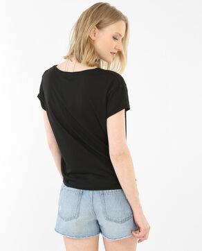 Camiseta para anudar con parches negro
