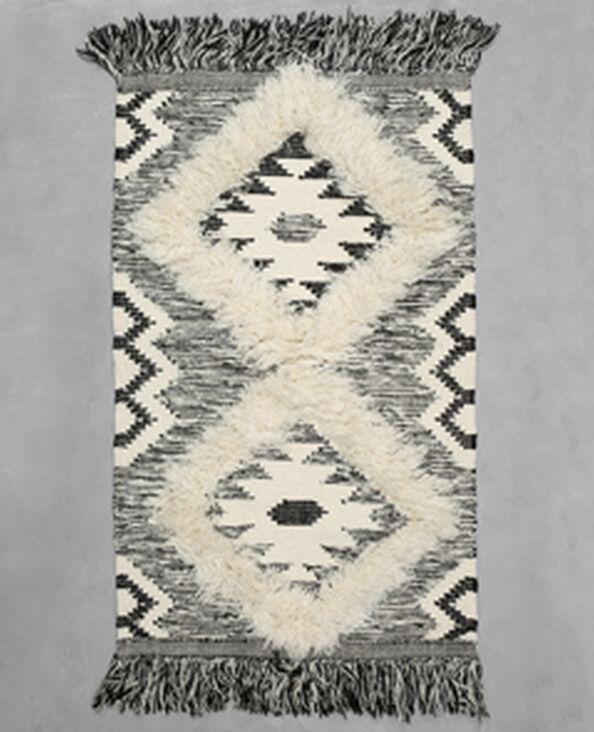Alfombra de algodón tejido bereber negro