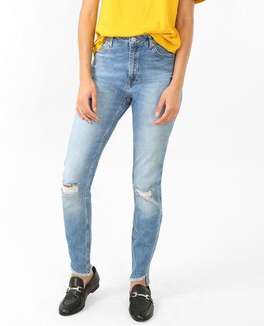 Skinny Jeans mit hohem Bund. Blau
