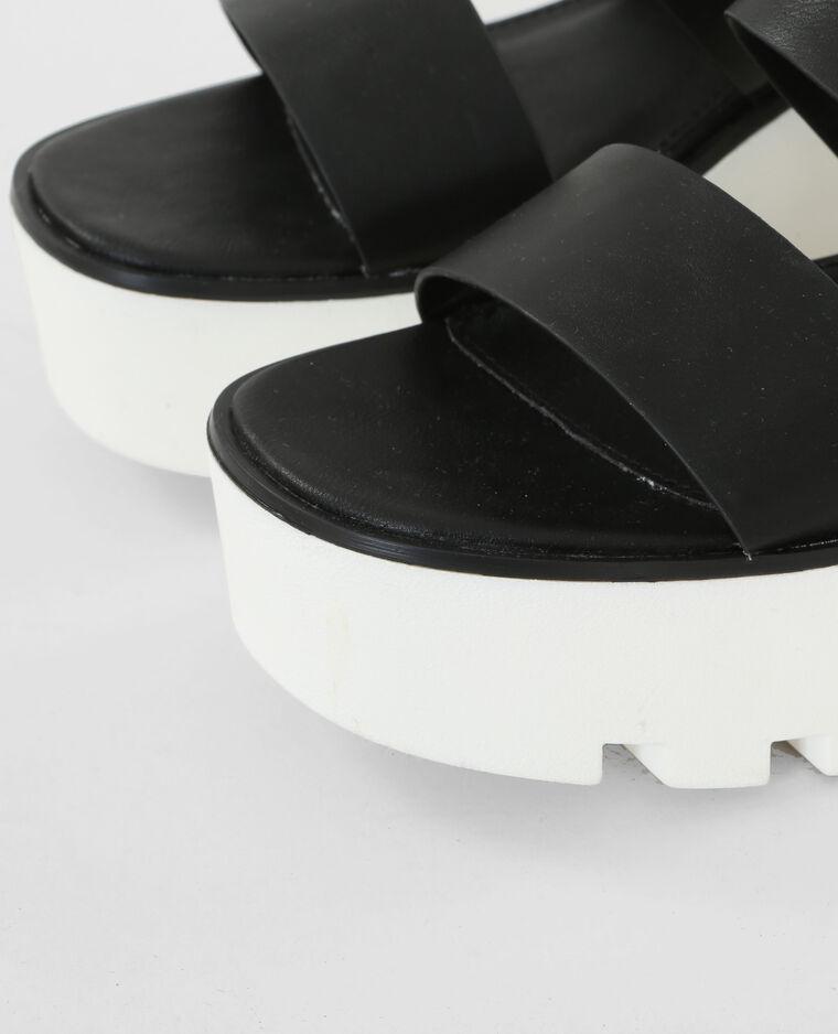 plateau sandalen schwarz 988100899a08 pimkie. Black Bedroom Furniture Sets. Home Design Ideas