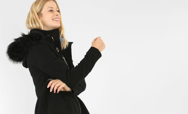 Chaquetón de paño de lana negro