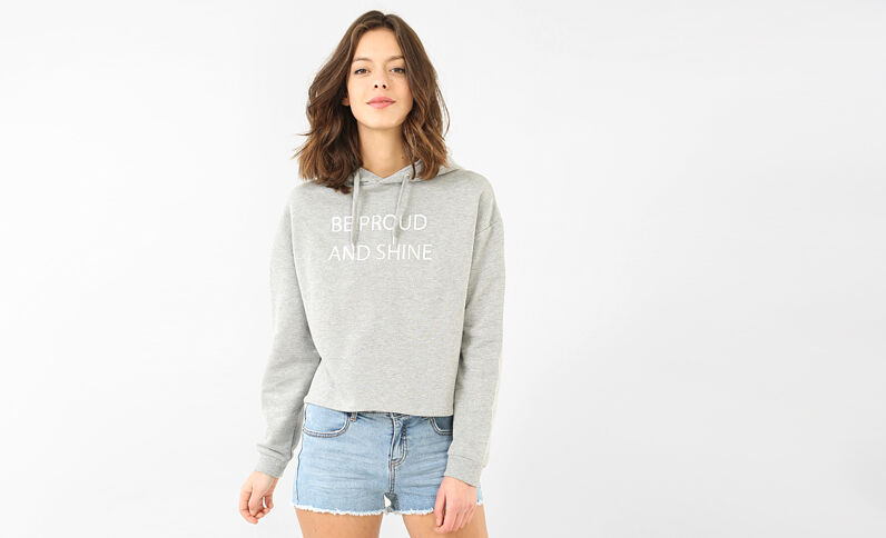 Sweat message gris