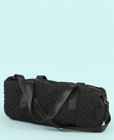 Bolso tubo acolchado negro