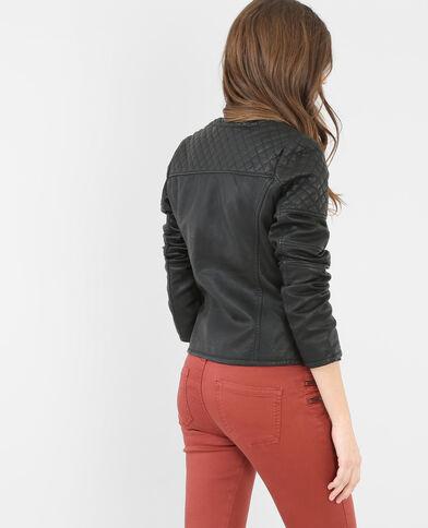 Blouson faux cuir noir