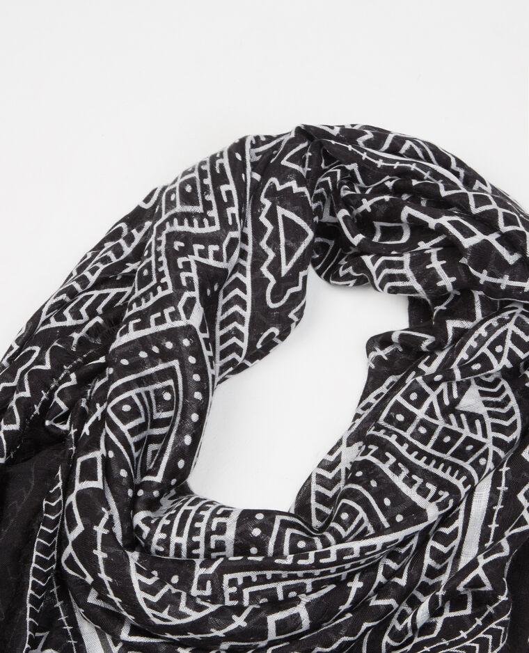 Foulard sottile stampato nero