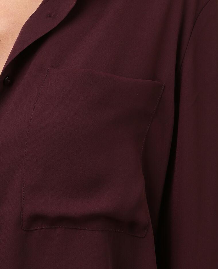 Weich fließende Hemdbluse Granatrot