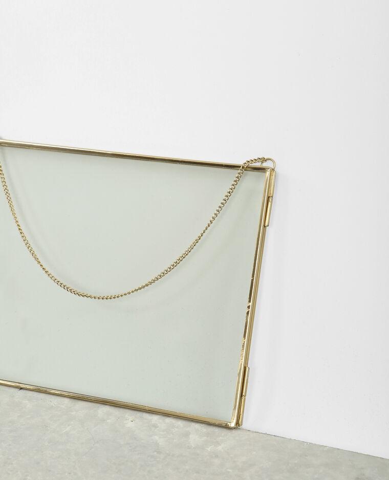 rahmen aus glas und metall gold 30 902843g06a0g pimkie. Black Bedroom Furniture Sets. Home Design Ideas
