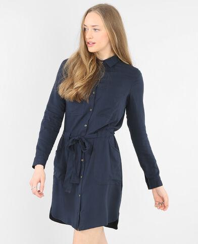 Vestido camisero azul marino