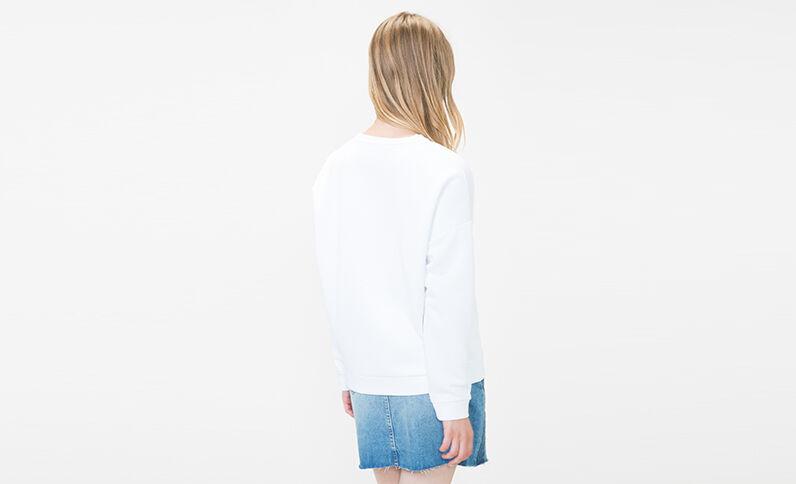 Sweater met opschrift ecru
