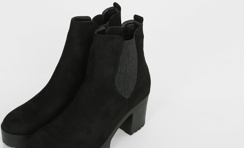 Boots semelle crantée noir