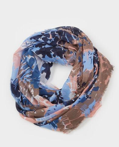 Foulard-collo stampato blu marino