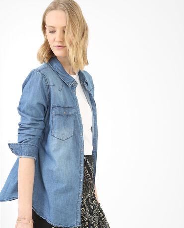 Chemise jean bleu