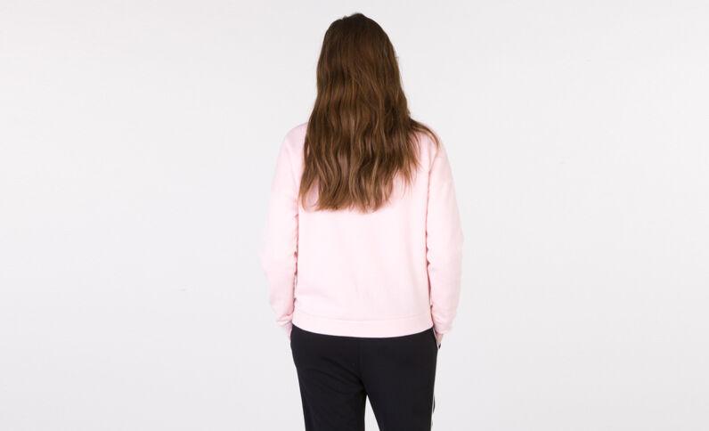 Sudadera con mensaje rosa