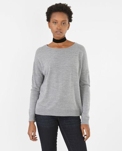 Jersey suave gris jaspeado