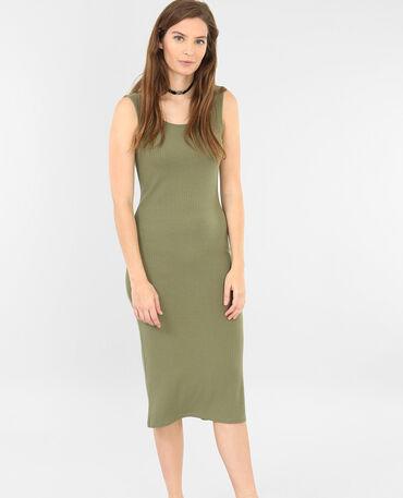 Langes Shirt-Kleid Grün
