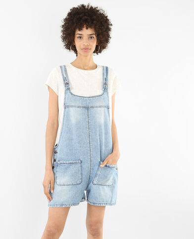 Korte tuinbroek van jeans blauw