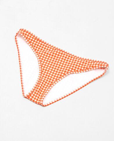 Pezzo sotto di costume da bagno vichy arancio