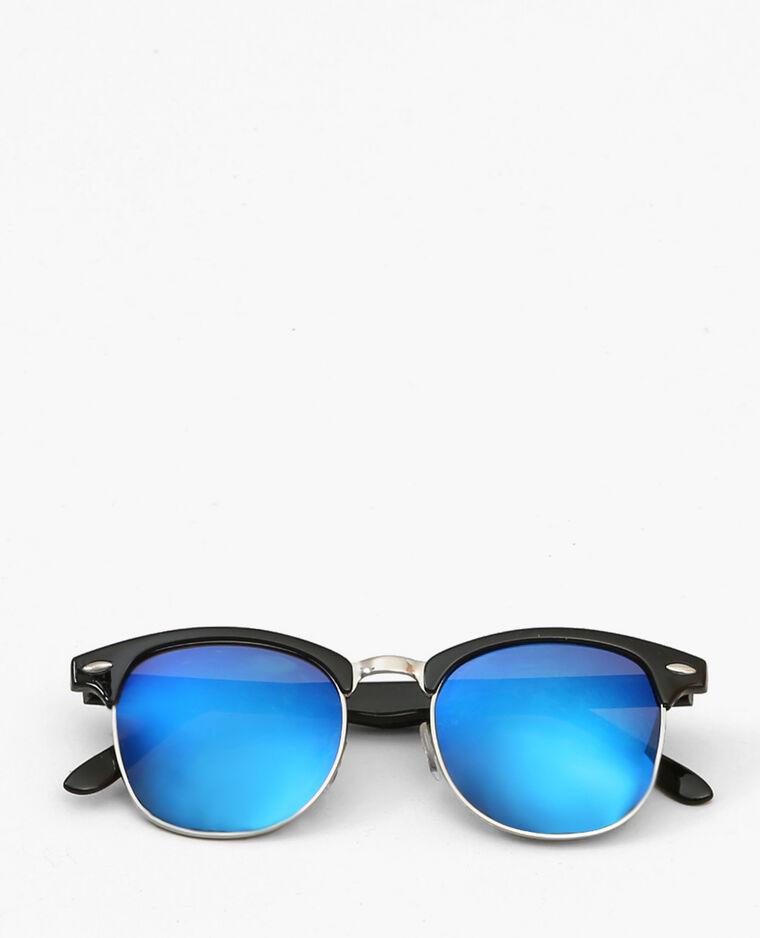 sonnenbrille mit verspiegelten gl sern schwarz. Black Bedroom Furniture Sets. Home Design Ideas