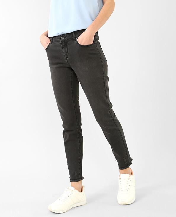 Jeans skinny sfilacciato nero
