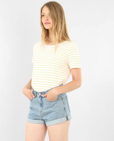 Gestreiftes T-Shirt Gelb