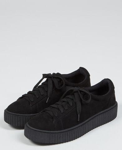 Scarpe da basket con plateau taccato nero