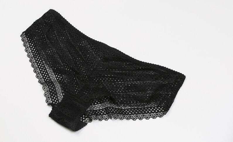 Braguita tipo shorts gráfica negro