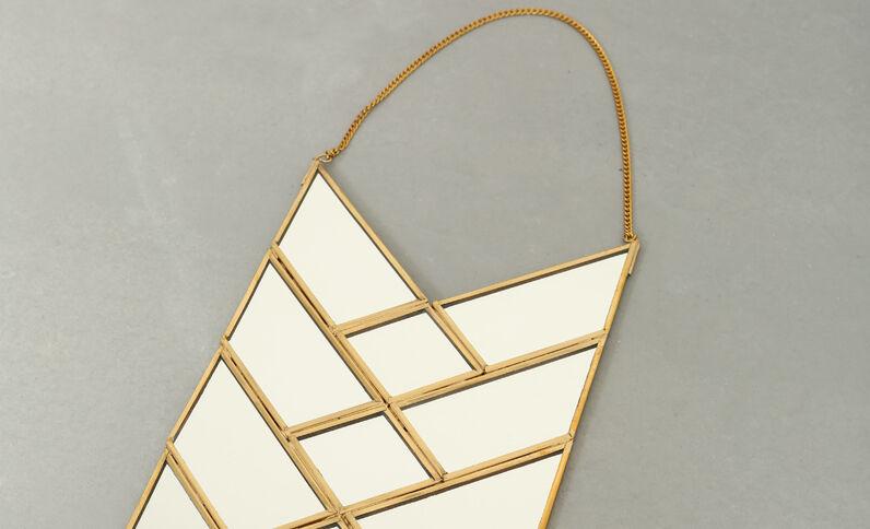 Specchio freccia dorato