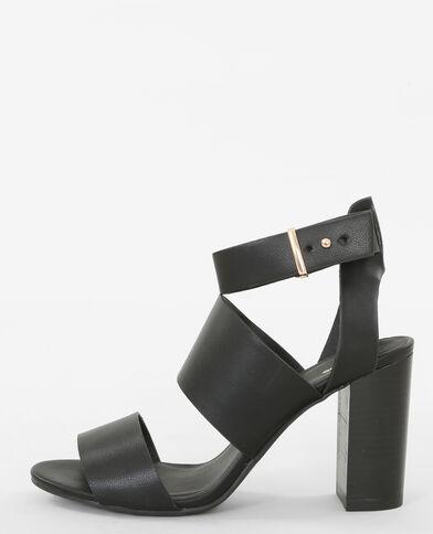 Sandalias con presillas anchas negro
