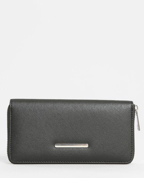 Brieftasche mit Reißverschluss Schwarz