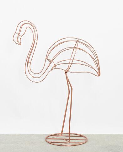 Roze metalen flamingo koperrood