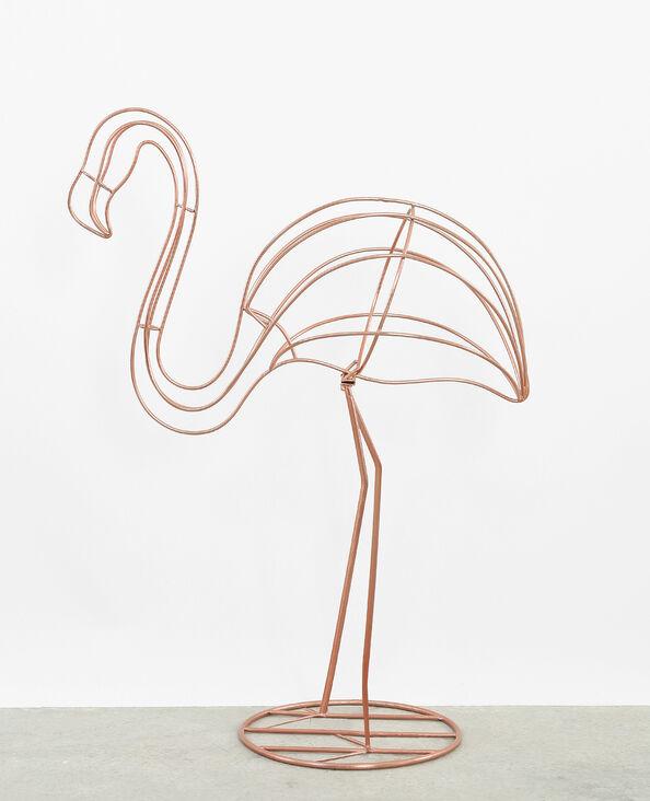 Flamingo aus Metall Kupferrot