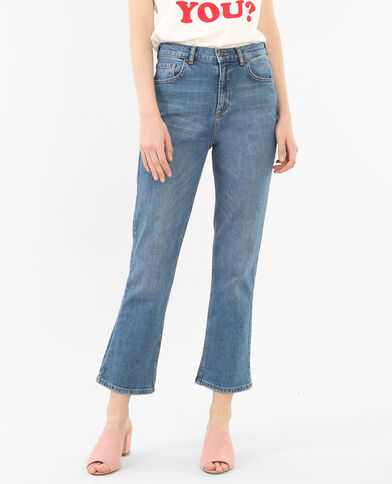 Straight Jeans 7/8 Denimblau