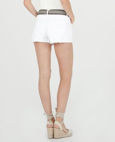 Short ceinture fantaisie blanc