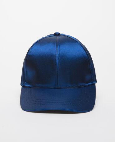 Casquette satinée bleu