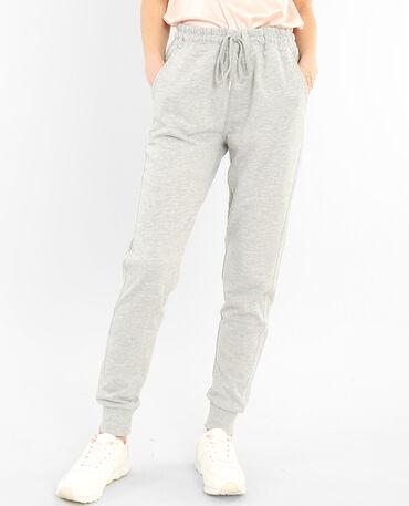 Pantalone da jogging grigio chiné