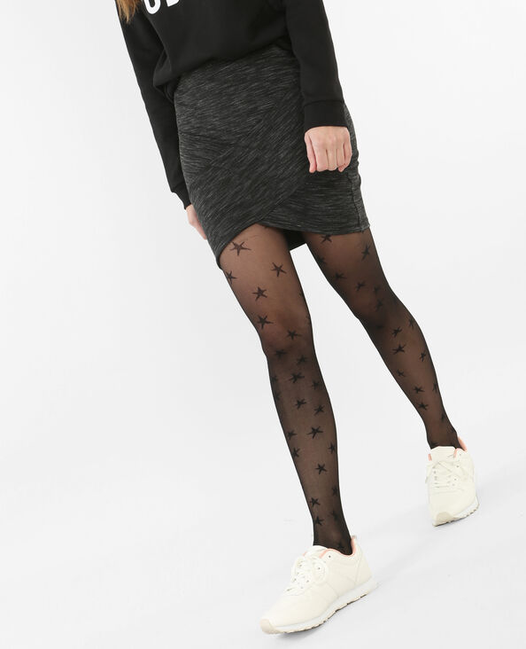 Panties estrellas negro