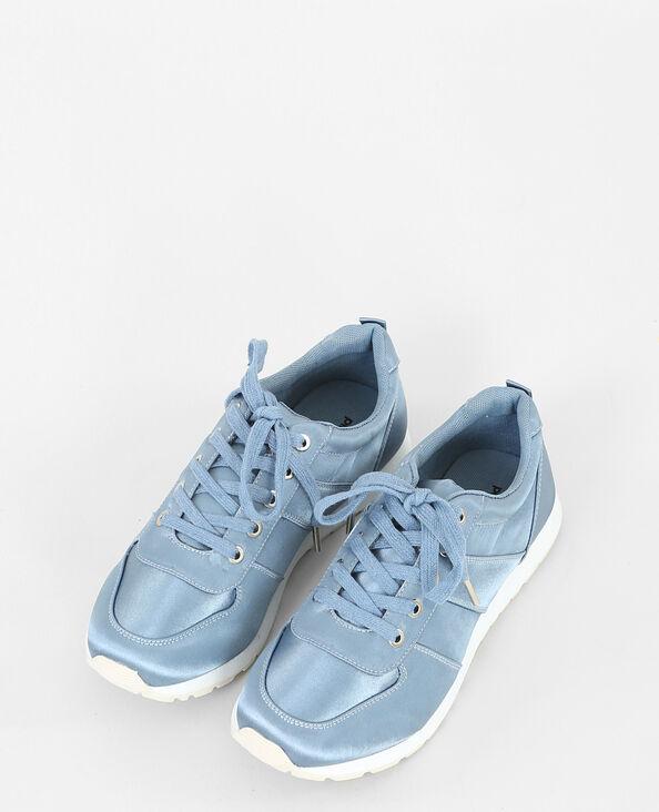 Satijnen baskets blauw