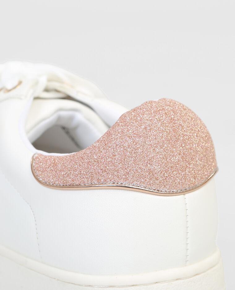 Scarpe da basket con piattaforma glitter bianco