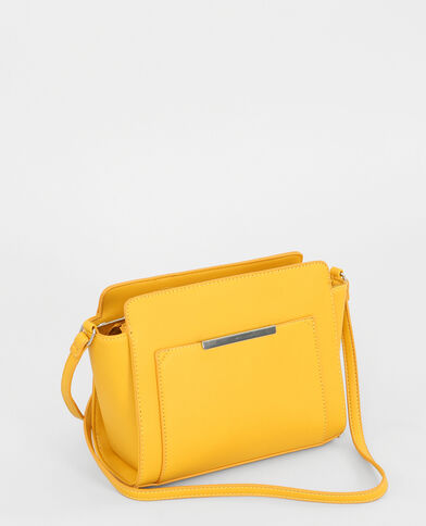 Petit sac trapèze jaune moutarde