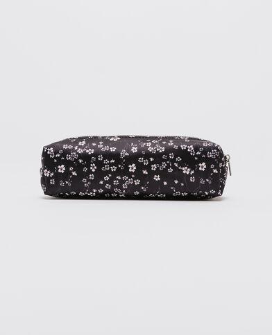 Trousse fleurie noir
