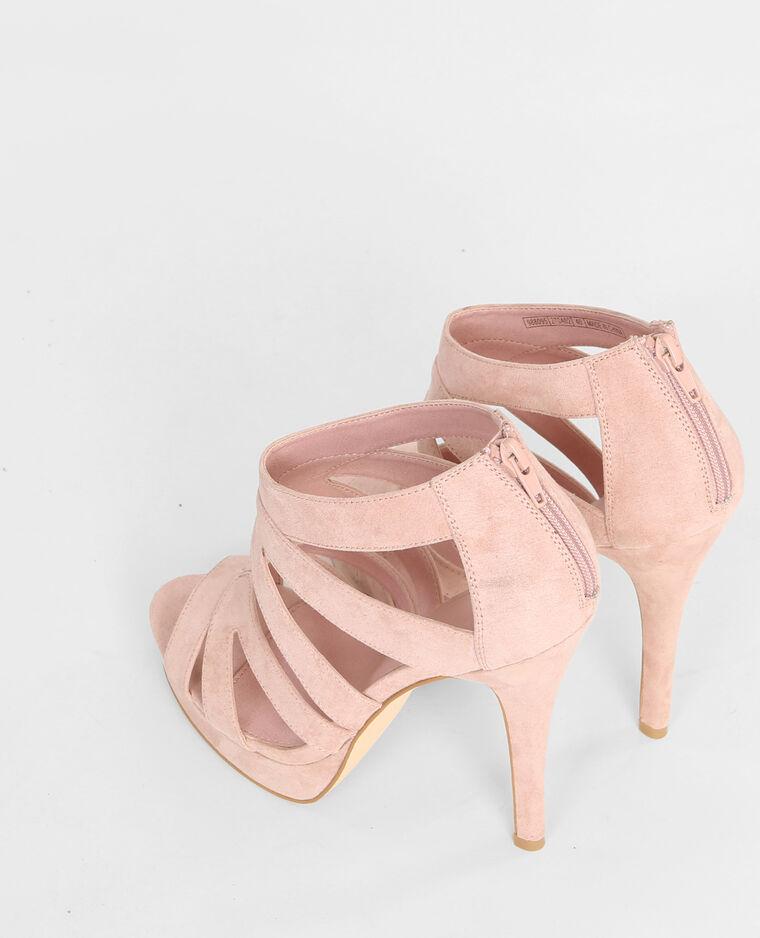 sandaletten mit absatz und multiriemchen zartrosa 988095270a02 pimkie. Black Bedroom Furniture Sets. Home Design Ideas