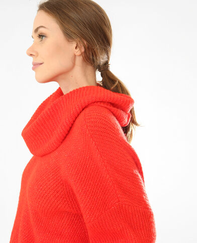 Oversize-Pullover Rot