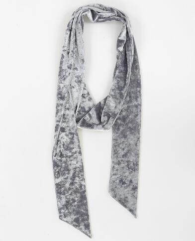 Foulard cravate velours gris