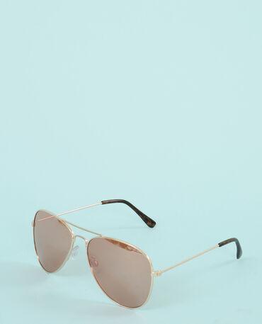Piloten-Sonnenbrille Kastanienbraun