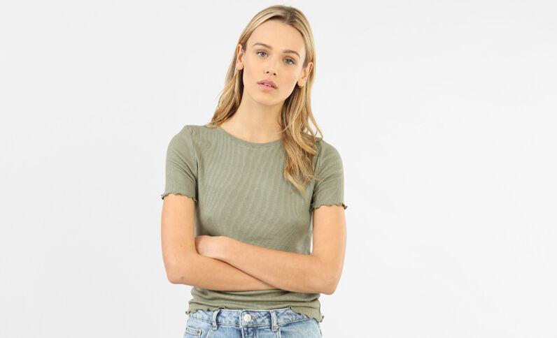 T-shirt a coste verde
