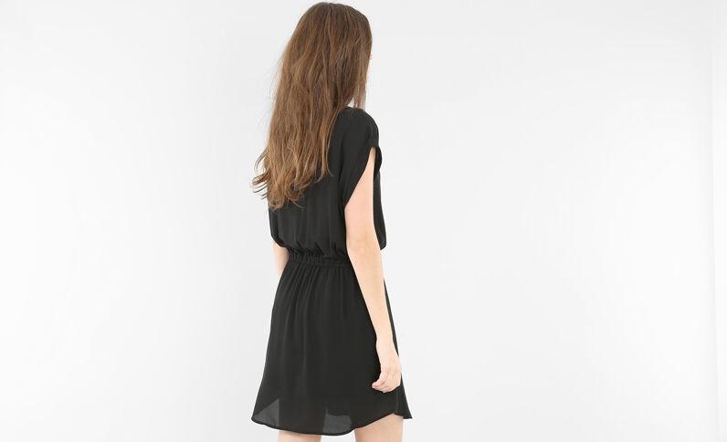 Kleid mit Reißverschluss Schwarz